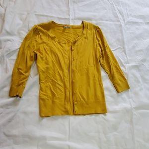 Mustard Yellow Cardigan